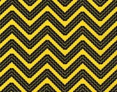 1 Yard Cone Zone Construction Tire Tread in Yellow by Caleb Gray  for Robert Kaufman