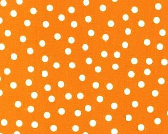 Remix Tangerine Polka Dot by Ann Kelle for Robert Kaufman