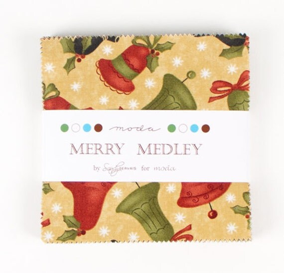 LAST ONE Charm Pack from the Merry Medley Collection by  Sandy Gervais for Moda