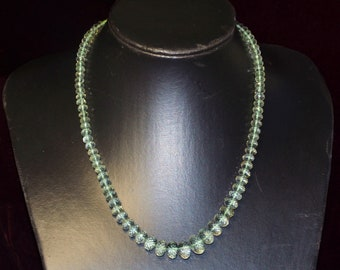 SALE GREEN AMETHYST necklace