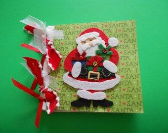 Santa scrapbook premade album     paper bag album
