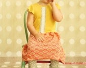 Girls Dress Funky Vintage dress 2t 3t 4t 5t dress Made to Order mustard yellow pink