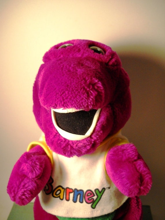 BARNEY i love you, you love me, no one loves barney, won't you save him