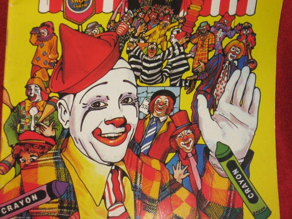 Unused Ringling Bros and Barnum & Bailey Circus Official Coloring Book, circa 1984