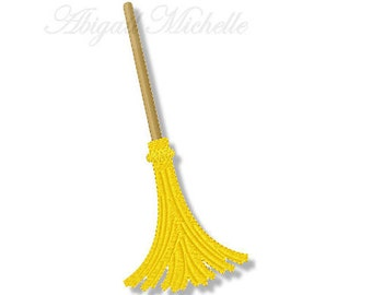 Bewitched Broom, 2 Sizes - Machine Embroidery