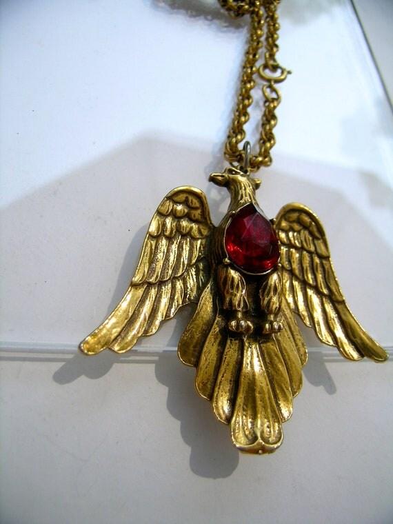 Pegasus Coro Eagle Gold necklace         VJSE