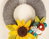 Interchangeable Season Yarn Wreath - Made to Order- PIck TWO Designs/Seasons