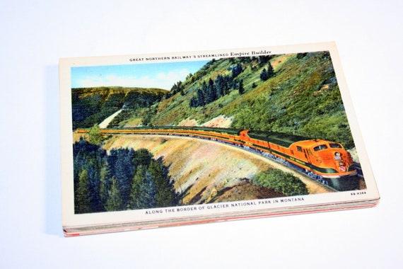 30 Vintage Montana Postcards Blank - Wedding Guestbook