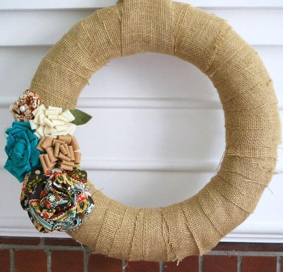 Burlap Wrapped Haven Wreath