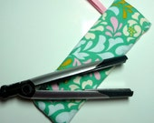 Flat Iron, Curling Iron, Thermal Case, Travel Case, Perfect Gift Idea, Heather Bailey Fabric