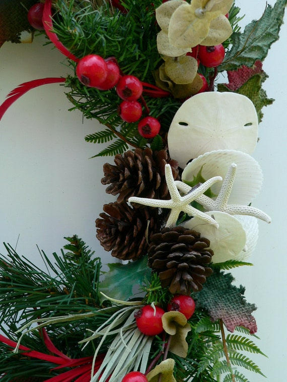 Christmas Wreath Beach Style