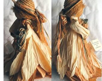 Vintage Handmade Collectible Paper Ribbon Doll - Cynthia Renee