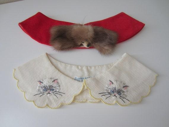 1950's novelty collars x 2 animals/kittens