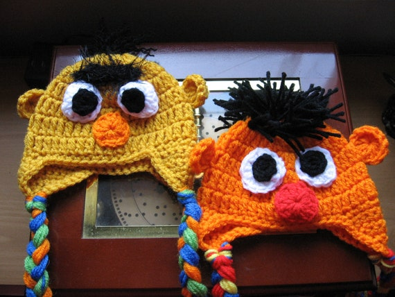 Listing for Alyson only***Sesame Street Bert and Ernie or Elmo or Grover Inspired Hats for baby Photo Prop Photography Prop...