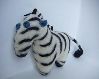 Felted Fairy Zebra, Cheekosh