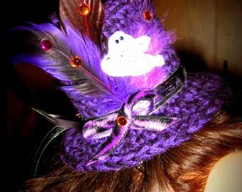 HALLOWEEN SALE----- Ghostly Ghoul Top Hat ---Halloween--