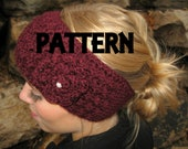 Crochet PDF PATTERN for Headband headwrap and flower