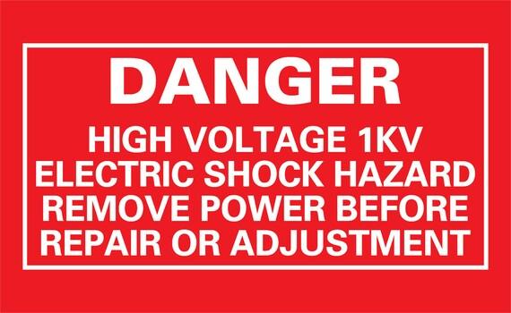 Items Similar To Danger High Voltage 1kv Proton Pack