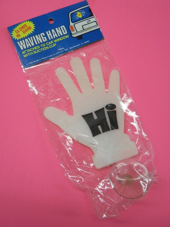 vintage glow in the dark plastic waving hand for by retropickins. Black Bedroom Furniture Sets. Home Design Ideas