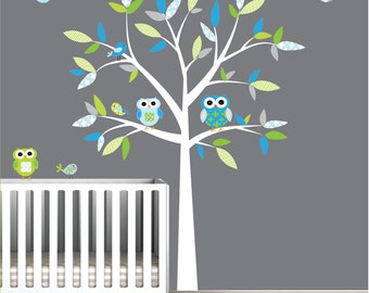 Decal Vinyl Wall Decal Decals Tree Owl