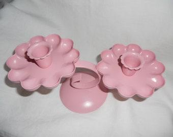 Vintage Pink Candle Holder