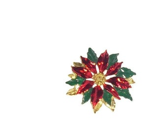 Clearance....Vintage Poinsettia Brooch