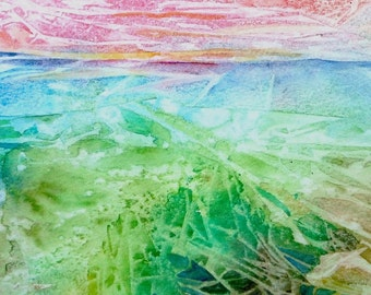 Mysteries of the Deep  - Original Abstract Art   -  Watercolour