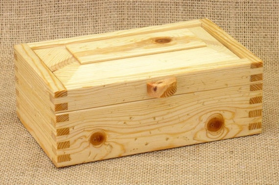 Pine box rustic wood small size - Small rustic wooden boxes ...