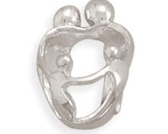 SALE Sterling Silver Parents and Two Children Charm Bead Marked 50% off Regular Price