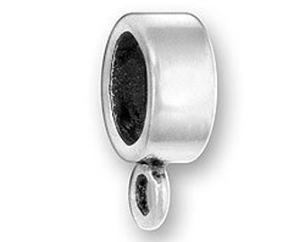Sterling Silver Charm Holder Charm Bead Fits most European style bracelet