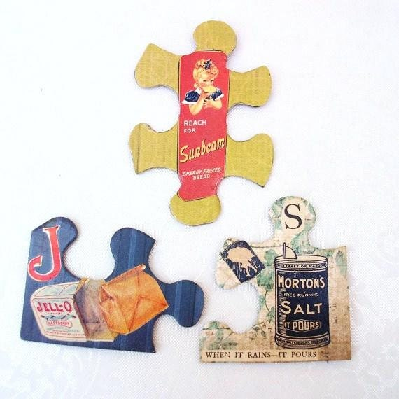 Vintage Advertising Magnets Puzzle Magnets Kitchen