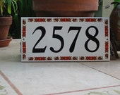 Ceramic Tile HOUSE NUMBER  Oriental Style Border Pattern 5 x 10