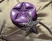 Filigree Star Flexible silicone push mold- fondant, wax, miniature foods, decoden, clay, resin, sweets, pmc