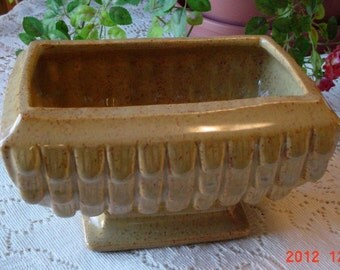 Vintage Gold Pedestal Ceramic Planter