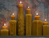Beeswax Candle Collection - Six Stars, Glowing Bright - Pollen Arts Bottle-Shaped Candles