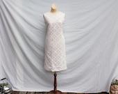 SALE-60's Mod Cotton Lace Dress-Was 65