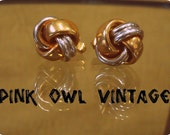 Vintage gold & silver tone Swank cuff links