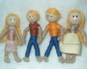 Bendy Doll Family of Four