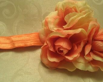 Peach Rose Girl Headband