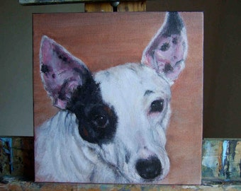 Original Custom Pet Portrait in Acrylic by Melloizes