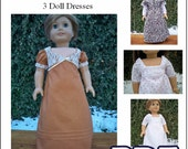 1810 Regency PDF Pattern for 3 Dresses  with Chemise for American Girl or 18 inch Doll INSTANT DOWNLOAD