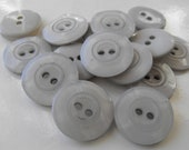 Dollar Sale 15 Light Gray Wavy Round Buttons Size 11/16""