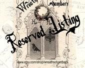 Custom Reserved Listing for Julie