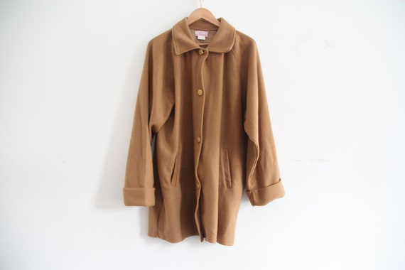 light brown soft detective coat