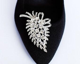 Bridal Shoe Clips Crystal Rhinestone Shoe Clips Wedding Party (Set of 2) SC014LX