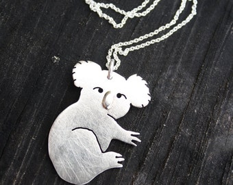 koala necklace Australia necklace Australian koala bear pendant