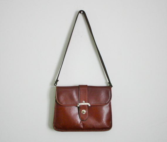 1980s or 70s etienne aigner oxblood burgundy red leather purse