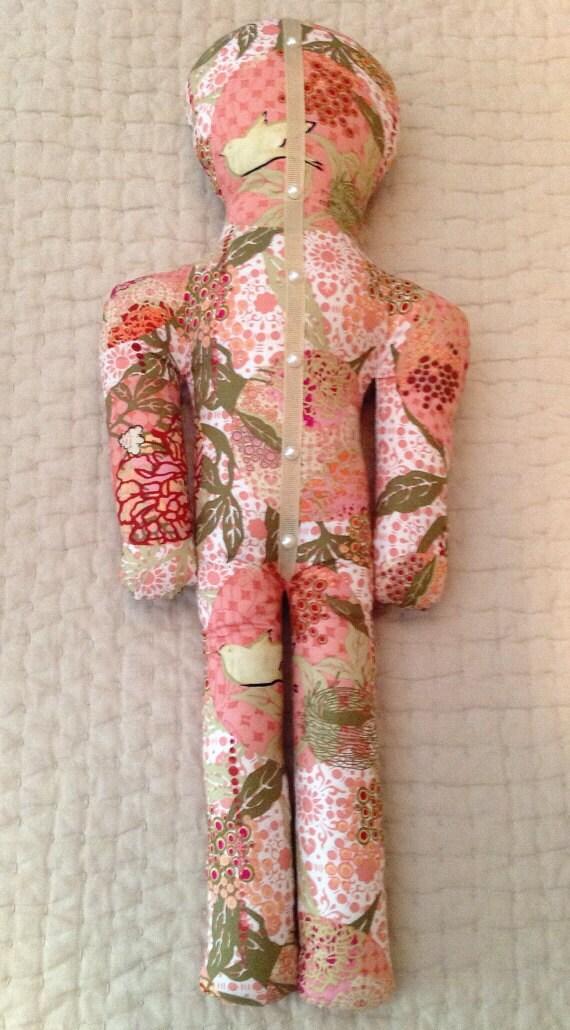 Reiki Distance Healing Doll - Bird Floral
