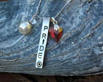Hand stamped Affirmation necklace