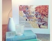 Collage Art Typography - 8x10 Art Print - Be Still (Psalm 46:10)